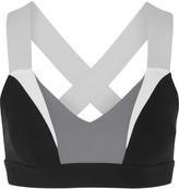 NO KA 'OI No Ka'Oi Ola color-block stretch-jersey sports bra