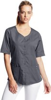 Cherokee Women's Workwear Scrubs Button Front Top