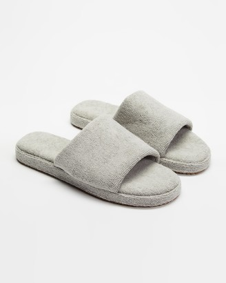 Staple Superior - Grey Sandals - Ibiza Terry Towelling Slides - Size M7/W9 at The Iconic