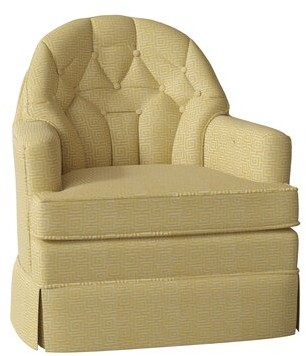 Hekman Marcia Swivel Armchair Motion Type: Standard, Body Fabric: 4027-042, Seat Cushion Fill: Extra Firm