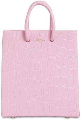 Medea Short Croc Embossed Leather Bag