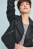 Anthropologie Shrunken Vegan Leather Moto Jacket