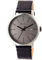 Simplify Mens The 2500 Gunmetal Dial Leather-Band Watch with Date SIM2501