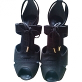 Louis Vuitton Brown Leather Sandals