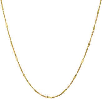 10k Italian Gold 10K Italian Gold Infinity Plaque Station Necklace