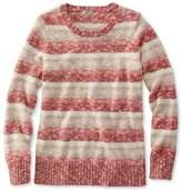 L.L. Bean Women's Cotton Ragg Sweater, Marled Stripe