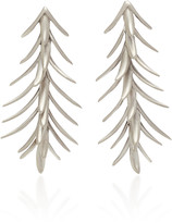 Luisa Schroder Palm White Gold Earrings