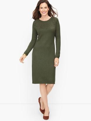 Talbots Pointelle Detail Sweater Dress