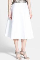Lafayette 148 New York 'Nevada' Linen Midi Skirt