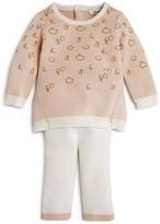 Miniclasix Infant Girls' Metallic Animal Print Sweater & Leggings Set - Sizes 3-9 Months