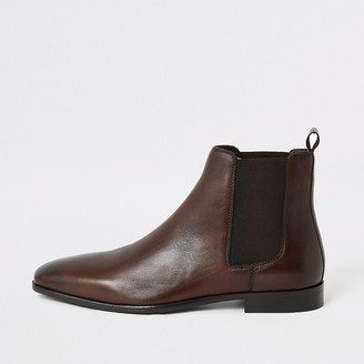 River Island Brown leather Chelsea boots