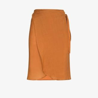 Anemos Femme high waist wrap skirt