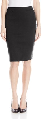 Star Vixen Women's Below-Knee Pencil Skirt with Back Slit