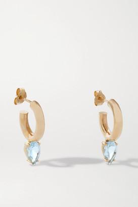 Loren Stewart Net Sustain Fantasia Gold Topaz Hoop Earrings
