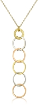 Torrini Fiesole - Three-tone 18K Gold Circles Drop Necklace