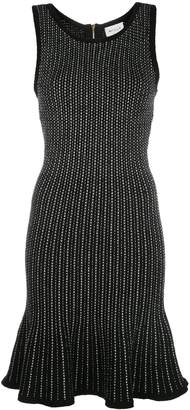 Milly tweed knit fit and flare dress