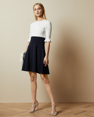 Ted Baker DYANA Frill knitted dress