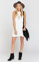 MUMU Katy Halter Dress ~ White Cloud