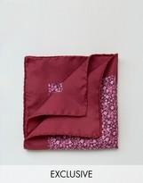 Heart & Dagger Pocket Square In Silk Floral Print