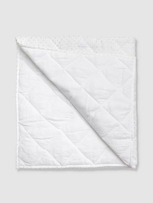 Louelle Gold Spot + White Linen Play Mat / Quilt