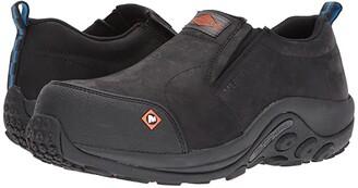 Merrell Work Jungle Moc CT (Black) Men's Slip on Shoes