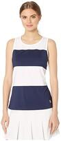 Fila Heritage Sleeveless Tank Top (White/Navy) Women's Sleeveless