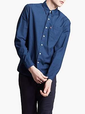 Levi's Check Sunset 1 Pocket Shirt, Fritsche Indigo
