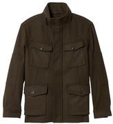 Banana Republic Italian Melton Wool-Blend Four-Pocket Jacket