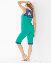Soma Intimates Tunic Pajama Set Dynasty Green/Jewel Blue