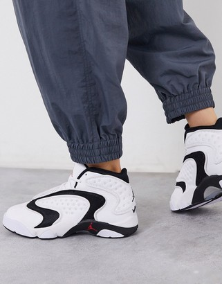 Jordan Nike Air OG sneakers in white and black