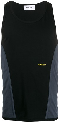 Ambush contrast panelled tank top