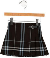 Burberry Girls' Pleated Nova Check Skirt