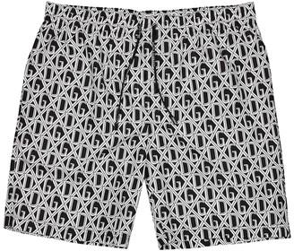 Dolce & Gabbana Logo-print nylon swim shorts