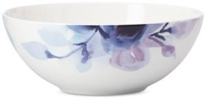 Lenox Indigo Watercolor Floral Porcelain Serving Bowl, Created for Macy's