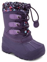 Toddler Girls' Cat & Jack Teri Star Print Cold Weather Boots - Purple