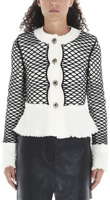 Alexander Wang Cropped Fishnet Tweed Jacket