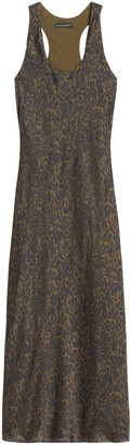 Banana Republic Petite Leopard Print Satin Slip Dress