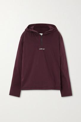 Ambush Hooded Padded Cotton-blend Shell Jacket - Burgundy