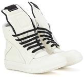 Rick Owens Geobasket Leather High-top Sneakers