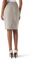 White House Black Market Crosshatch Neutral Suit Skirt