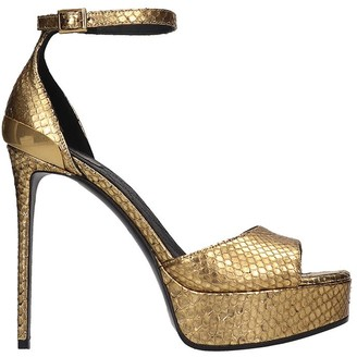 Balmain Pippa Sandals In Gold Leather