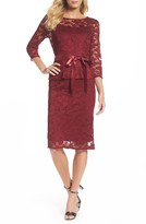 Chetta B Women's Lace Sheath Dress