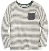 Splendid Boys' Long-Sleeved Striped Pocket Tee - Little Kid