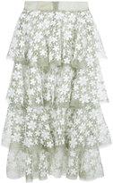 Lalo - ruffle layered skirt - women - Silk - XS
