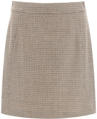 A.P.C. Sonia Micro-check Mini Skirt
