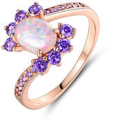 Peermont Women's Rings Rose - Opal & 18k Rose Gold-Plated Oval Ring