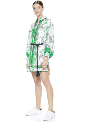 Alice + Olivia Oralia Button Down Mini Dress
