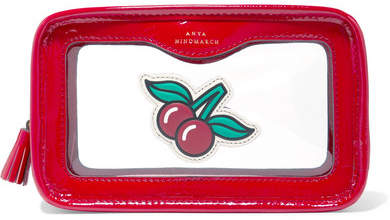 Anya Hindmarch Rainy Day Perspex And Patent-leather Cosmetics Case - Red