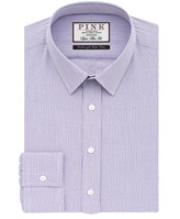 Thomas Pink Hicks Check Super Slim Fit Button Cuff Shirt