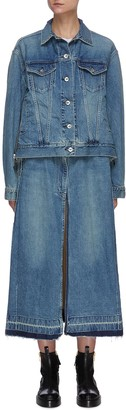 Sacai Nylon pleated back denim jacket